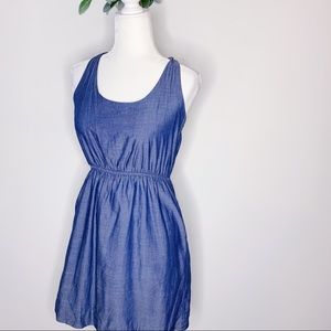 J. Crew Chambray Tie Strap Dress